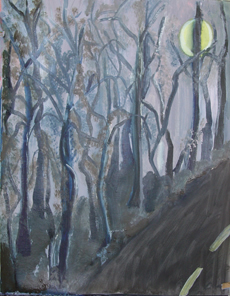 Loup Garou Road Painting